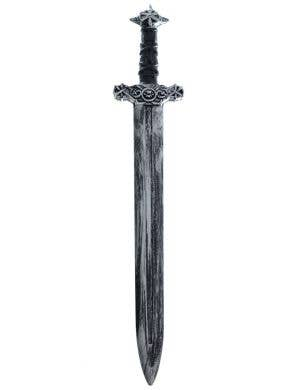 Antique Look Medieval Black Handled Silver Costume Sword