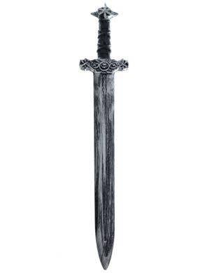 Antique Look Medieval Black Handled Silver Costume Sword