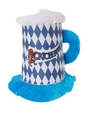 Oktoberfest Blue Beer Stein Costume Hat