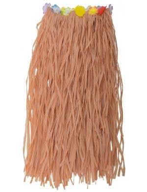 Hawaiian Adult's Natural Colour Long Luau Grass Skirt Costume Accessory