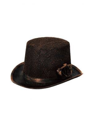 Antique Black and Bronze Halloween Top Hat