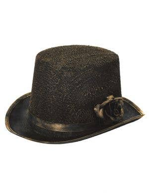 Antique Black and Gold Halloween Top Hat