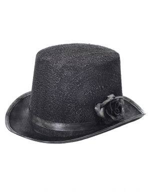 Ghostly Black and Silver Halloween Top Hat