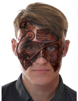 Antique Red Mesh Eye Men's Masquerade Mask