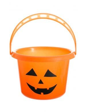 Pumpkin Face Halloween Candy Bucket