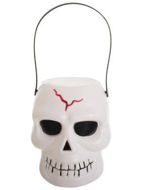 Skull Trick or Treat White Candy Bucket