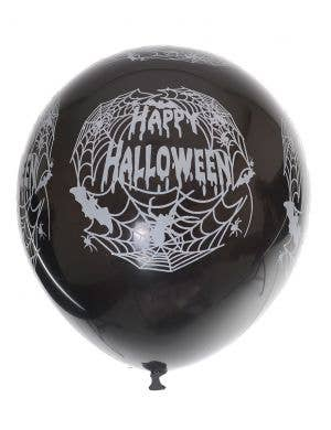 Happy Halloween Black Party Balloons - 10 Pack