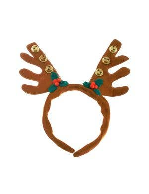 Christmas Reindeer Brown Antler Headband Costume Accessory