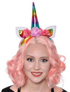 Metallic Unicorn Rainbow Headband