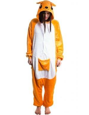 Aussie Kangaroo Adult's Plush Onesie Costume