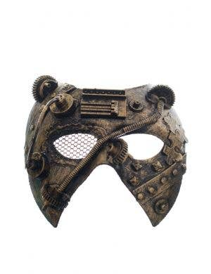 Antique Gold Mesh Eye Men's Masquerade Mask