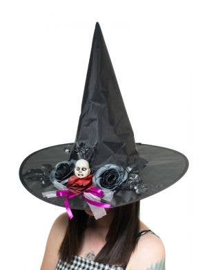 Haunting Black Halloween Witch Costume Hat