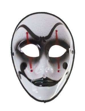 Harlequin Jester Costume Mask on Glasses Arms