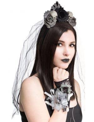 Gothic Corpse Bride Flora Corsage Wrist Glove