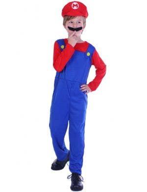 Italian Plumber Mario Boy's Fancy Dress Costume