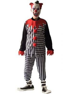 Creepy Clown Men's Halloween Fancy Dress Costume