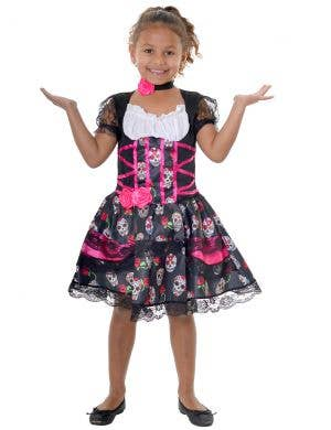 Day of the Dead Girls Sugar Skull Dress Up Halloween Costume