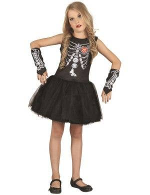 Diamond Skeleton Girl's Halloween Costume