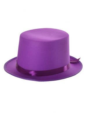 Tall Purple Top Hat Costume Accessory