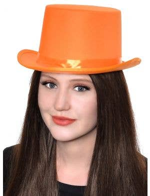 Classic Orange Adult's Top Hat Costume Accessory