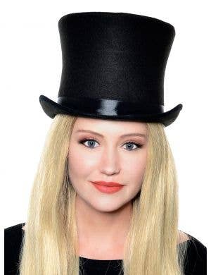 Deluxe Adult's Tall Black Top Hat Costume Accessory