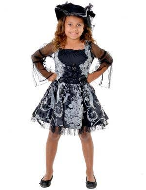 Pirate Sweetie Girls Black and Grey Dress Up Costume