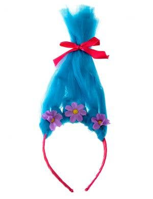 Trolls Smidge Blue Hair on Headband Girls Costume Accessory