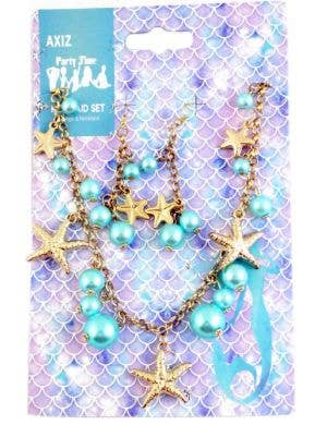 Mermaid Starfish Necklace and Earrings Costume Jewellery Set