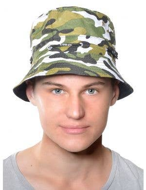 Camouflage Green Adult's Army Bucket Hat