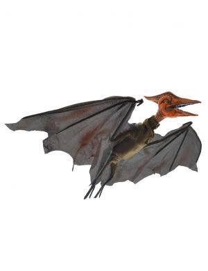 Flying Orange and Black Animated Pterodactyl Halloween Decoration - 126cm Wing Span