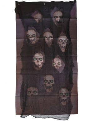 Creepy Skull Print Halloween Door Curtain Decoration