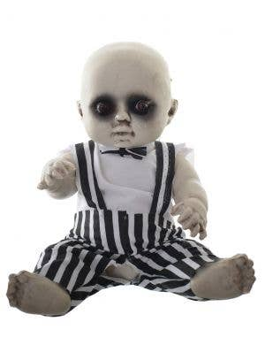 Evil Baby with Light Up Eye's 30cm Halloween Decoration - Black and White