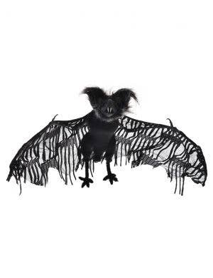 Hanging 75cm Tattered Black Bat Halloween Decoration