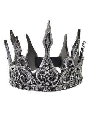 Antique Silver Foam Latex Costume Crown