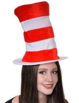 Plush Striped Cat in the Hat Costume Hat