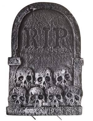 RIP Headstone with Skulls 56cm Halloween Decoration