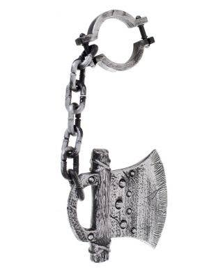 Axe Head Ankle Shackle Halloween Costume Accessory