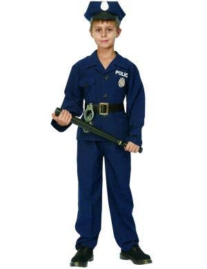 Classic Policeman Boys Fancy Dress Costume