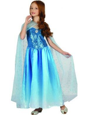 Snow Queen Girls Frozen Fancy Dress Costume