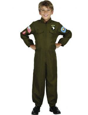 Fighter Pilot Boy's Airborne Fancy Dress Costume