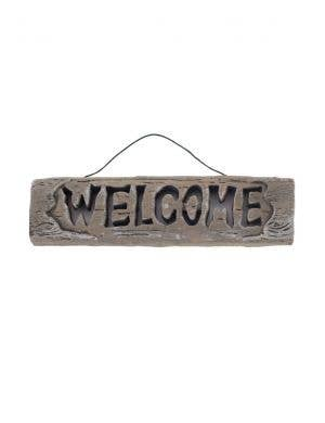Light Up Welcome Sign Halloween Decoration