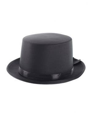 Black Satin Top Hat Fancy Dress Costume Accessory