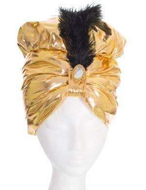 Gold Arabian Genie Turban Fancy Dress Costume Hat