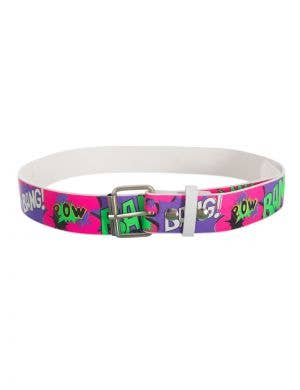 Bright Neon 80's Comic Strip Belt Costume Accessory