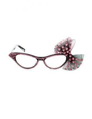 Dame Edna Pink Rhinestone Novelty Glasses