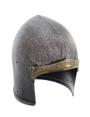 Silver and Gold Medieval Knight Costume Helmet