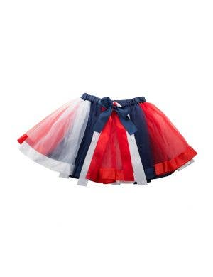 Adult's Australia Day Red, White And Blue Tulle And Satin Trim Petticoat Tutu