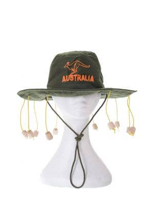 Adults Australia Day Green Cork Hat Costume Accessory