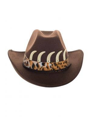 Adult's Brown Crocodile Dundee Outback Hunter Hat View 1