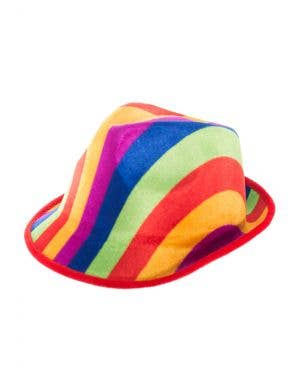 Colourful Fedora Style Rainbow Hat Costume Accessory Main Image